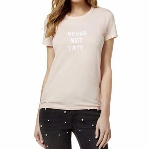 Never not late sequined T-Shirt